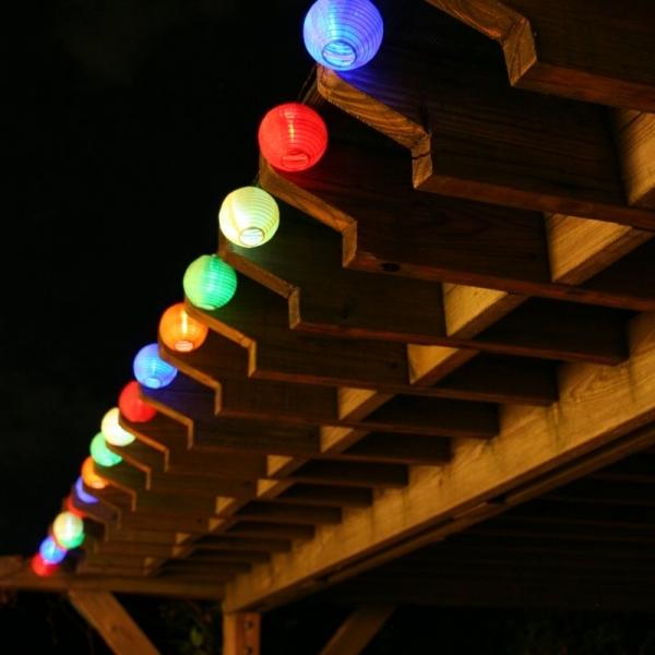Smart Solar Chinese Lantern Solar String Light