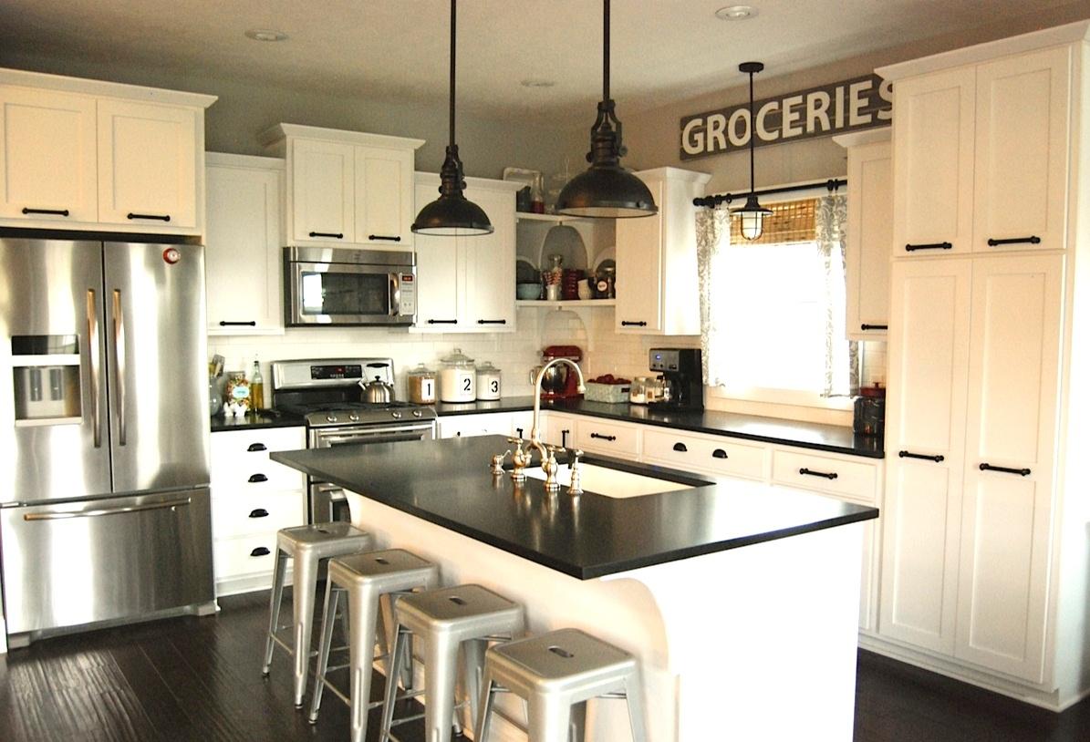 Mix it up rustic modern kitchen design hayneedle blog for Rustic modern kitchen cabinets