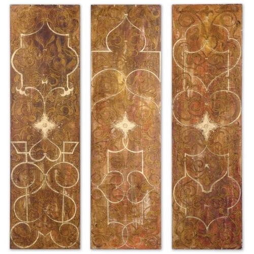Scrolled-Panel-I-II-III-Wood-Wall-Art