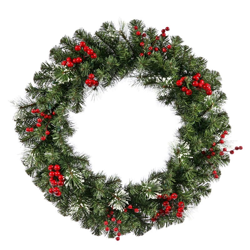 VKR2833 - 30 in. Siegal Berry Pine Unlit Wreath