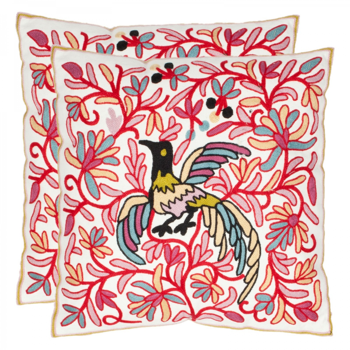 Safavieh-Matlock-18-in.-Cream-&-Red-Decorative-Pillows-Set-of-2