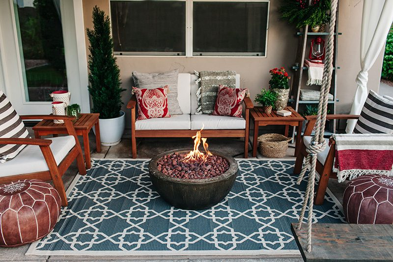 holiday patio firepit