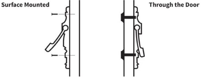 door knocker installation