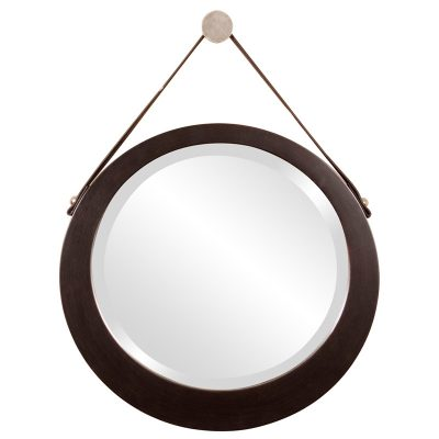 hanging mirror leather strap