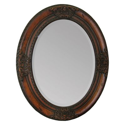 oval wood mirror