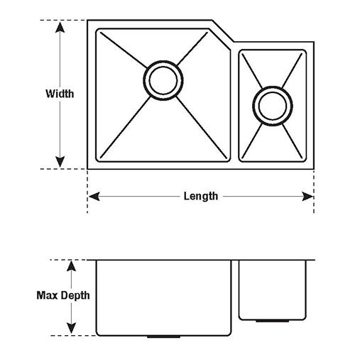 kitchen sink measuring diagram