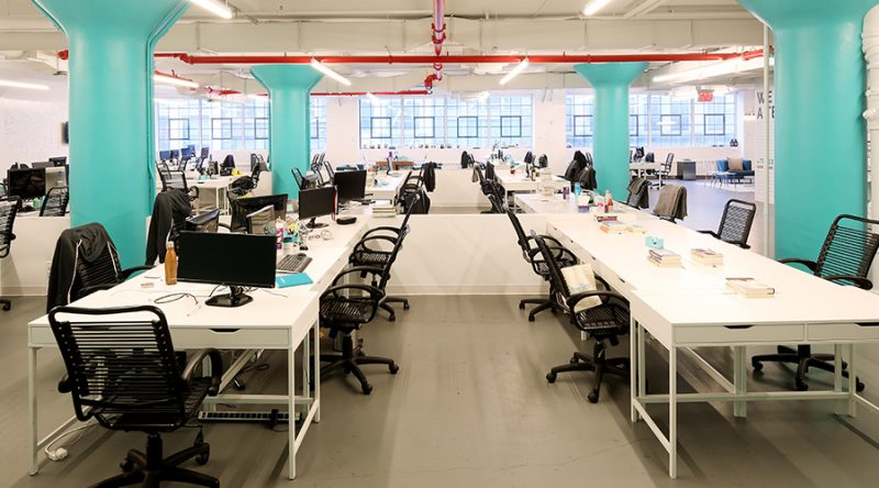 the skimm open office space