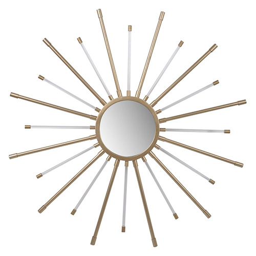 white and gold starburst wall mirror