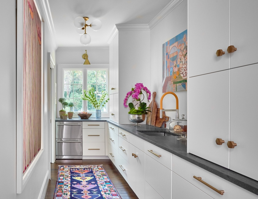 Kitchen with colorful rug