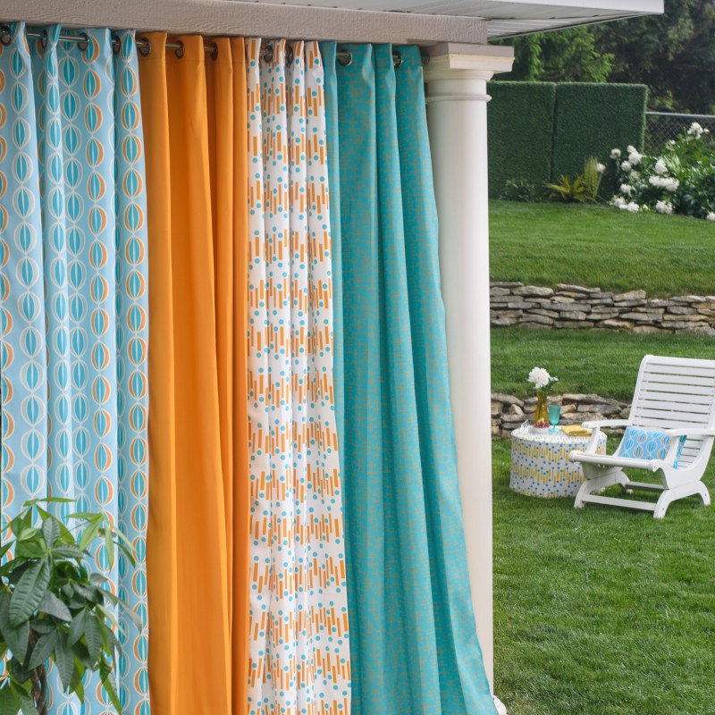 colorful patterned outdoor curtains