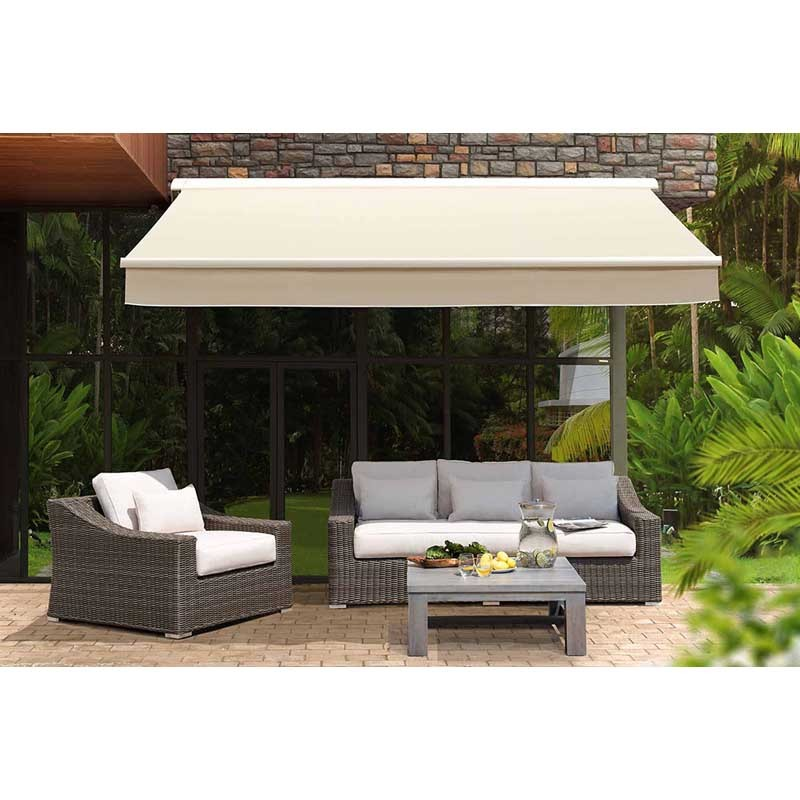 beige patio awning