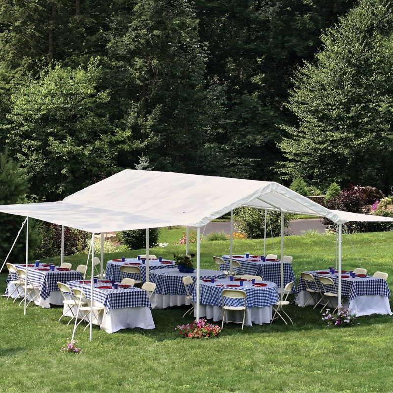 large party canopy with open sides