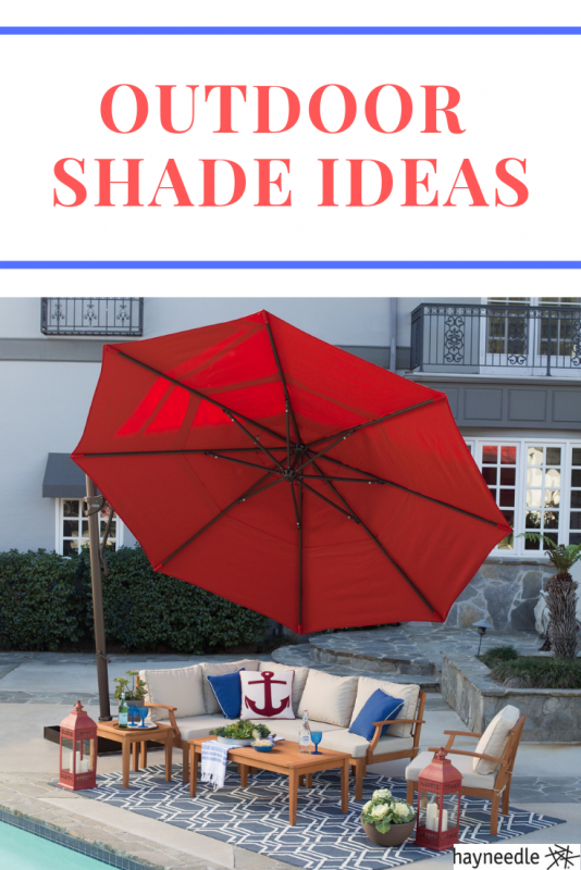 Check out these outdoor shade ideas for the backyard and patio