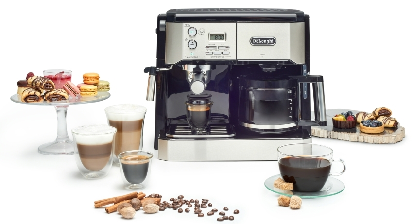 Combo espresso machine and drip coffee maker
