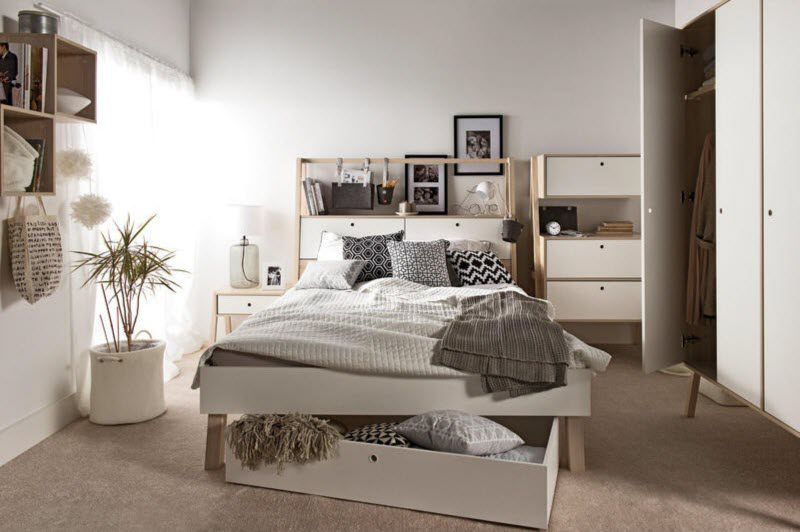 small bedroom with neutral colors