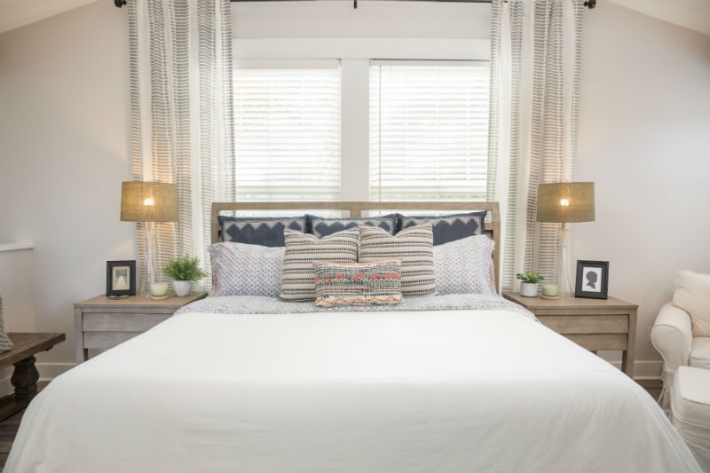 White transitional bedroom