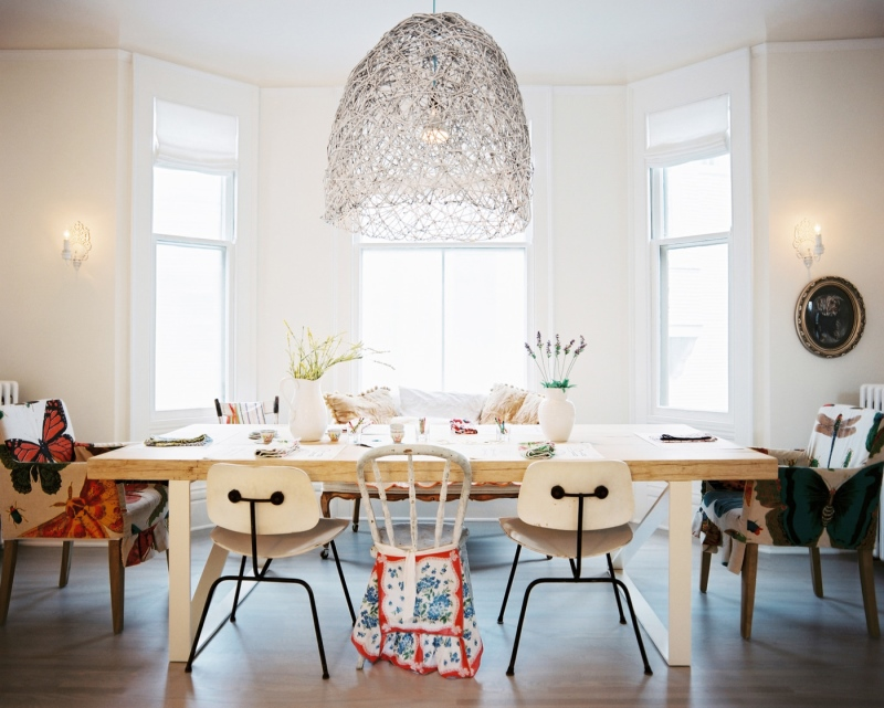 Dining room with pendant light