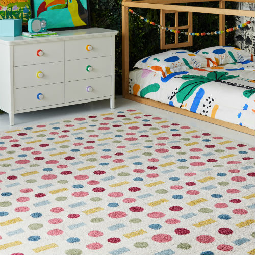 Dots and dashes area rug