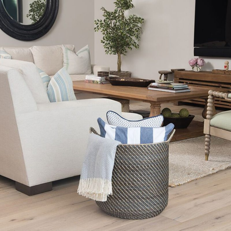 14 Storage Organization Ideas Using Decorative Baskets Hayneedle